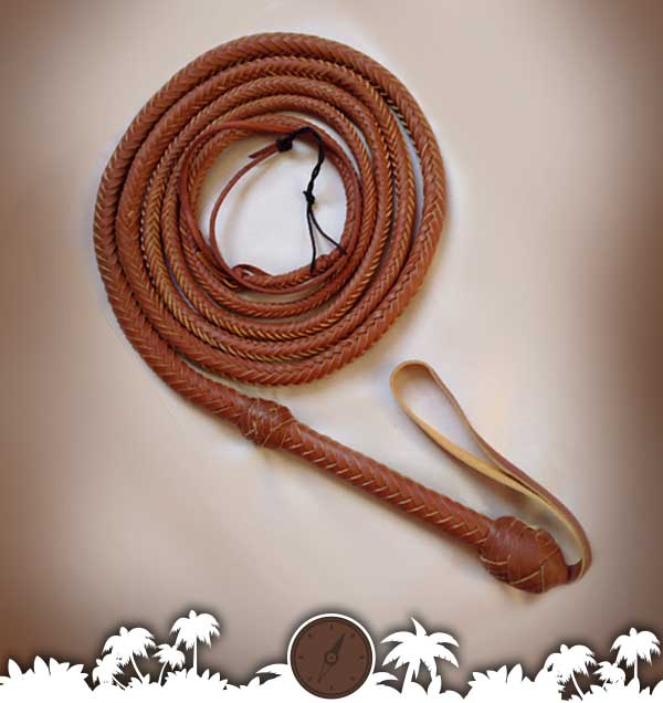 Real Leather Bull Whip