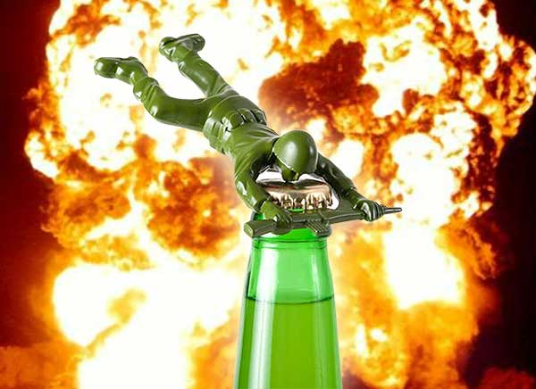 Metal Army Man Beer Bottle Opener