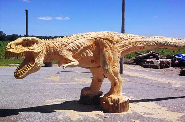 T-Rex Chainsaw Art
