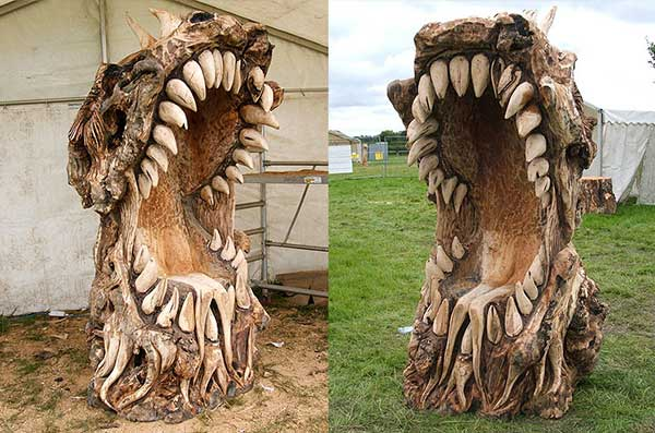 Chainsaw Art Dragon Head Throne
