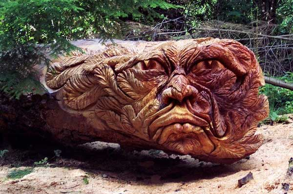 Chainsaw Art Old Man