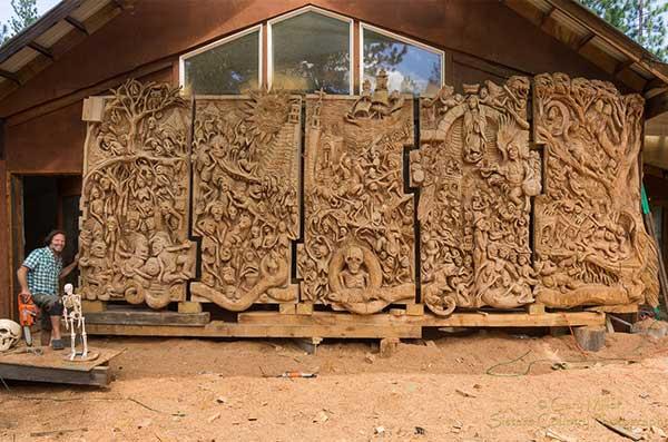 Chainsaw Art Bones