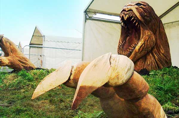 Chainsaw Art The Kraken