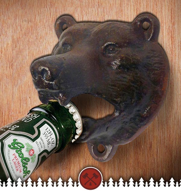 Cast Iron Grizzly Bear Bottle Opener